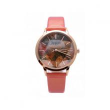 Đồng hồ nữ dây da chính hãng Julius Hàn Quốc JA-977D Hồng