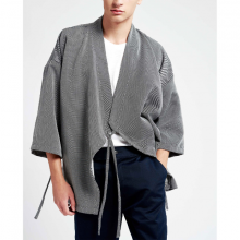 Áo khoác nam The Cosmo Ryouta Kimono màu xám  TC1023056DG