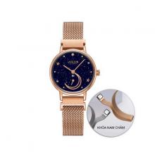Đồng hồ nữ mặt kính sapphire dây nam châm chính hãng Julius Star Hàn Quốc JS-038A