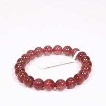 Vòng tay đá thạch anh ưu linh dâu đỏ đậm size hạt 8mm mệnh hỏa, thổ - Ngọc Quý Gemstones
