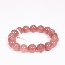 Vòng tay đá thạch anh ưu linh dâu đỏ nhạt size hạt 10mm mệnh hỏa, thổ - Ngọc Quý Gemstones