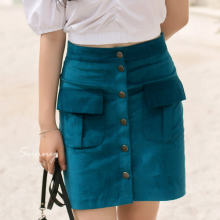 Chân váy nhung gân túi đắp Kimi - VN190052