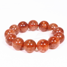 Vòng tay đá thạch anh tóc đỏ 16mm mệnh hỏa, thổ - Ngọc Quý Gemstones