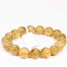 Vòng tay đá thạch anh tóc vàng size hạt 11mm mệnh thủy, kim - Ngọc Quý Gemstones