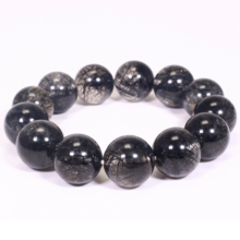 Vòng tay đá thạch anh tóc đen size hạt 17mm mệnh thủy, mộc - Ngọc Quý Gemstones