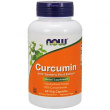 Thực phẩm bổ sung hỗ trợ chức năng gan mật NOW curcumin (630mg) from tumeric root extract (60 Viên)