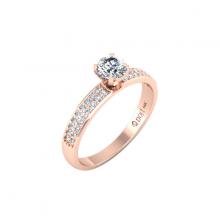 Nhẫn vàng hồng DOJI cao cấp 14K 0320R-LAL035