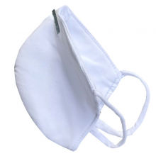Combo 2 Khẩu trang màu trắng may 4 lớp sử dụng nhiều lần KT5N201