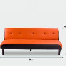 Ghế sofa dài chất liệu da với màu sắc trẻ trung