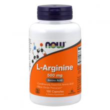 Thực phẩm bổ sung axit amin hỗ trợ chức năng gan, tăng cường lưu lượng máu NOW l-arginine 500mg (100 viên)