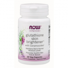 Thực phẩm bổ sung hỗ trợ trắng sáng da, cải thiện mờ vết nám, tàn nhang NOW solutions - glutathion skin brightener 30 Viên