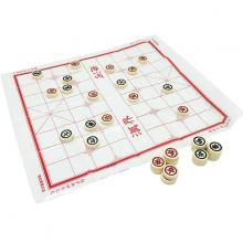 Bộ trò chơi cờ tướng quân cờ nhựa đặc kèm bàn giấy size trung