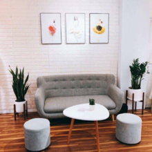 Bàn trà sofa tam giác