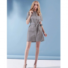 Đầm sơ mi The Cosmo PHOEBE SHIRT DRESS màu xanh navy TC2005225NA