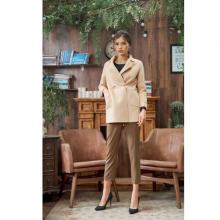 Áo khoác dạ khâu tay màu be HeraDG - WAM19019