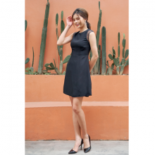 Đầm crape màu đen HeraDG- SDC18024