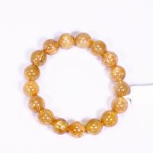 Vòng tay đá thạch anh tóc vàng AAA size hạt 11mm mệnh thủy, kim - Ngọc Quý Gemstones