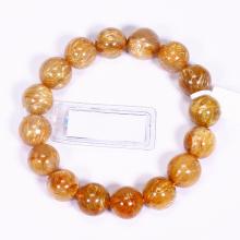 Vòng tay đá thạch anh tóc vàng AAA size hạt 13mm mệnh thủy, kim - Ngọc Quý Gemstones