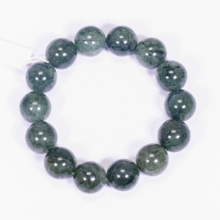 Vòng tay đá thạch anh tóc xanh nhạt size hạt 15mm mệnh hỏa, mộc - Ngọc Quý Gemstones
