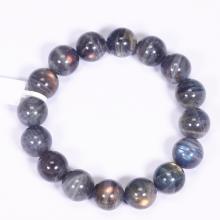 Vòng tay đá xà cừ xám size hạt 13mm - Ngọc Quý Gemstones