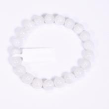 Vòng tay đá xà cừ trắng size hạt 9mm mệnh thủy, kim - Ngọc Quý Gemstones