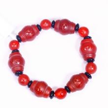 Vòng tay đá mã não đỏ khắc lục tự minh chú mệnh hỏa, thổ - Ngọc Quý Gemstones
