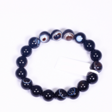 Vòng tay đá mã não mắt rồng size hạt 10mm mệnh thủy, mộc - Ngọc Quý Gemstones