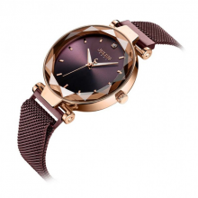 Đồng hồ nữ ja-1166c Julius mặt chuyển sắc dây nam châm (màu tím)