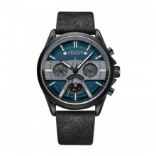 Đồng hồ nam jah-106b julius hàn quốc 6 kim (đen)