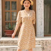 Đầm cổ vest kimi - AD190167