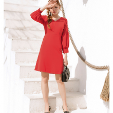 Đầm cổ v tay bồng kimi - AD190200