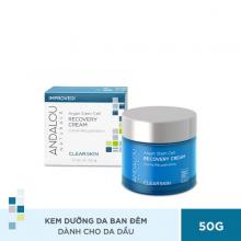 Kem dưỡng da ban đêm cho da dầu Andalou Naturals Clear Skin Argan Stem Cell Recovery Cream 50g