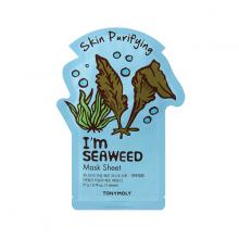 Mặt nạ miếng từ rong biển giúp thanh lọc da - Tonymoly I'm Seaweed Mask Sheet 22gram
