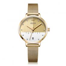 Đồng hồ nữ JA-1100B Julius Hàn Quốc dây thép vàng