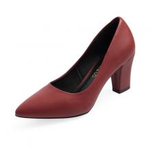 Giày cao gót thời trang mũi nhọn đế vuông cao 7cm Erosska basic - EP001 (RE)