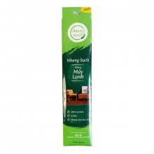 Nhang sạch phòng máy lạnh 40cm - 60g - ít khói - hương trầm dịu nhẹ - chân tăm mộc - nhang xanh