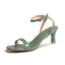 Giày nữ, giày sandals cao gót thời trang Erosska phối dây quai mảnh kiểu dáng thanh lịch cao 7cm EM043 (màu xanh rêu)