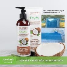 Combo nước rửa tay hương Dừa tặng kèm khẩu trang y tế