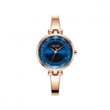 Đồng hồ nữ dây kim loại chính hãng Julius Hàn Quốc JA-1228A Đồng mặt xanh