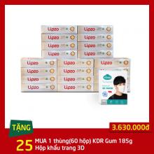 Mua 01 thùng kem đánh răng Gum Protect 185g(60 tuýp) tặng 25 hộp 10 chiếc khẩu trang Niva 3D người lớn