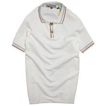 Áo thun nam cổ bẻ thời trang phong cách đơn giản chuẩn pigofashion aht22 màu trắng