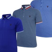 Bộ 3 áo thun nam polo pigofashion AHT16 màu bích, xanh da, vịt