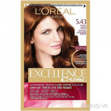 Thuốc nhuộm tóc LOreal 5.43 Golden Copper BrownCream Hair Color Excellence 172ml