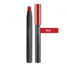 Son lì The Face Shop Flat Glossy Lipstick RD01