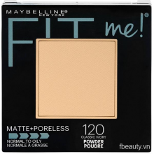 Phấn phủ Maybelline Fit Me Matte Poreless Powder 120 Classic Ivory