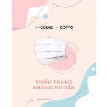 Combo 2 khẩu trang vải kháng khuẩn The Cosmo màu trắng