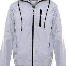 Áo khoác dù nam chống tia UV có nón AKD28 PigoFashion xám ghi