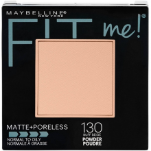 Phấn phủ mịn lì Maybelline fit me matte  poreless powder 130 buff beige