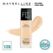 Kem nền mịn lì Maybelline fit me matte + poreless foundation pump 128 30ml