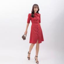 Váy đầm công sở thời trang Eden nhúng bèo - D403